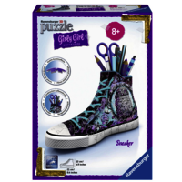 Ravensburger - 3D Puzzles - Girly Girl Edition - Sneaker - Animal Trend, 108 Teile