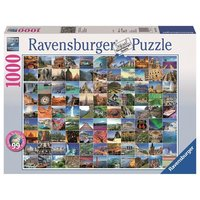 Ravensburger - 99 Beautiful Places on Earth, 1000 Teile